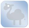 dekbedicoon-kameel-blauw-klein